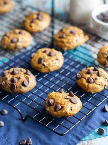 Pumpkin Chocolate Chip Cookies | A Nerd Cooks