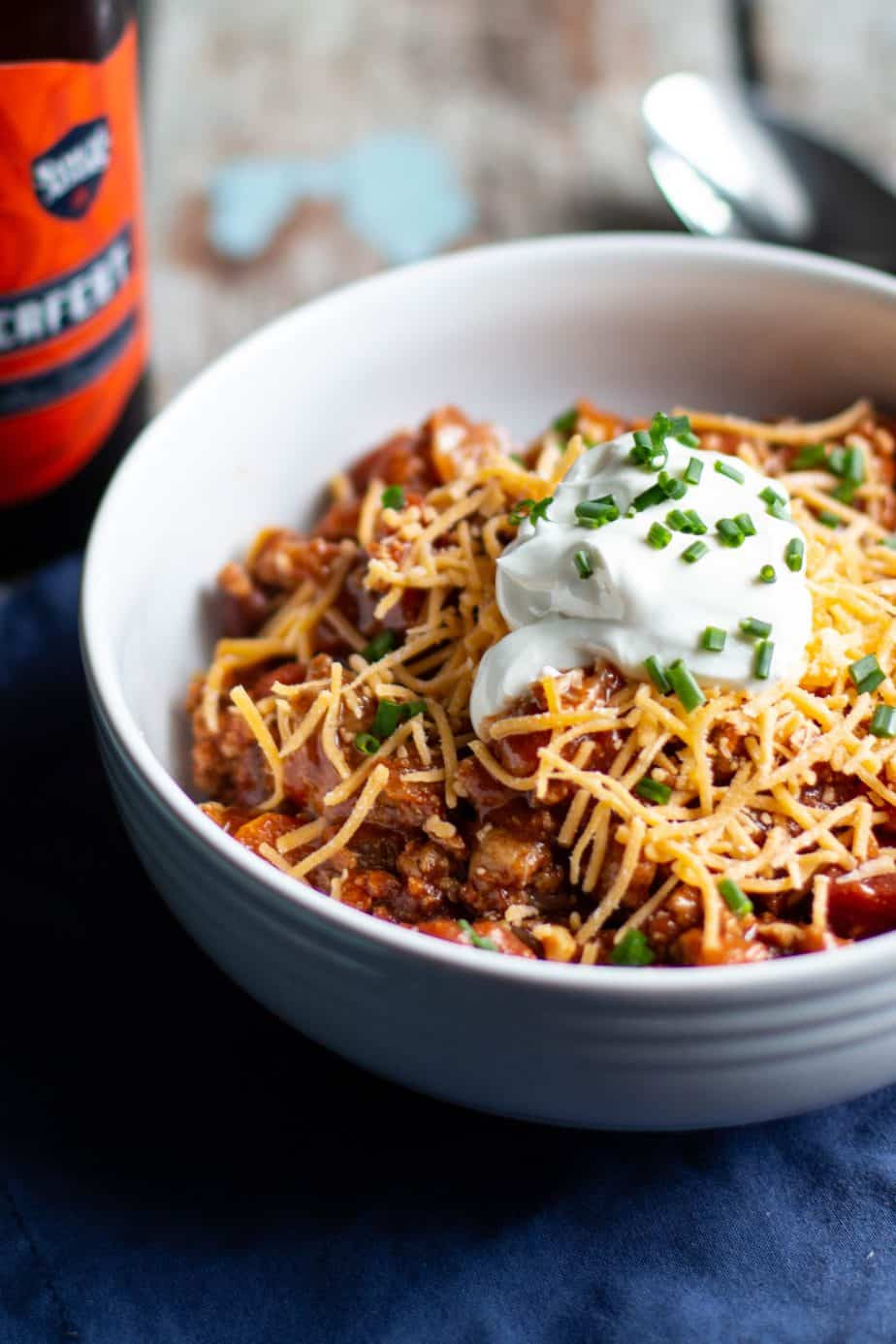 Slow Cooker Turkey Chili | A Nerd Cooks