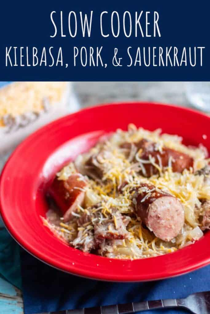 Slow Cooker Kielbasa, Pork, and Sauerkraut | A Nerd Cooks