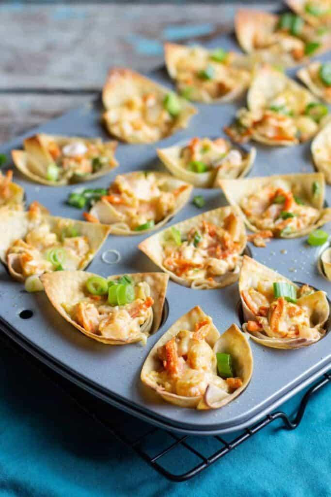 Shrimp Wonton Cups | A Nerd Cooks