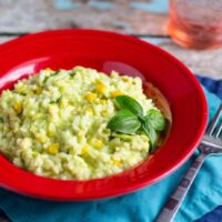 Avocado and Corn Risotto