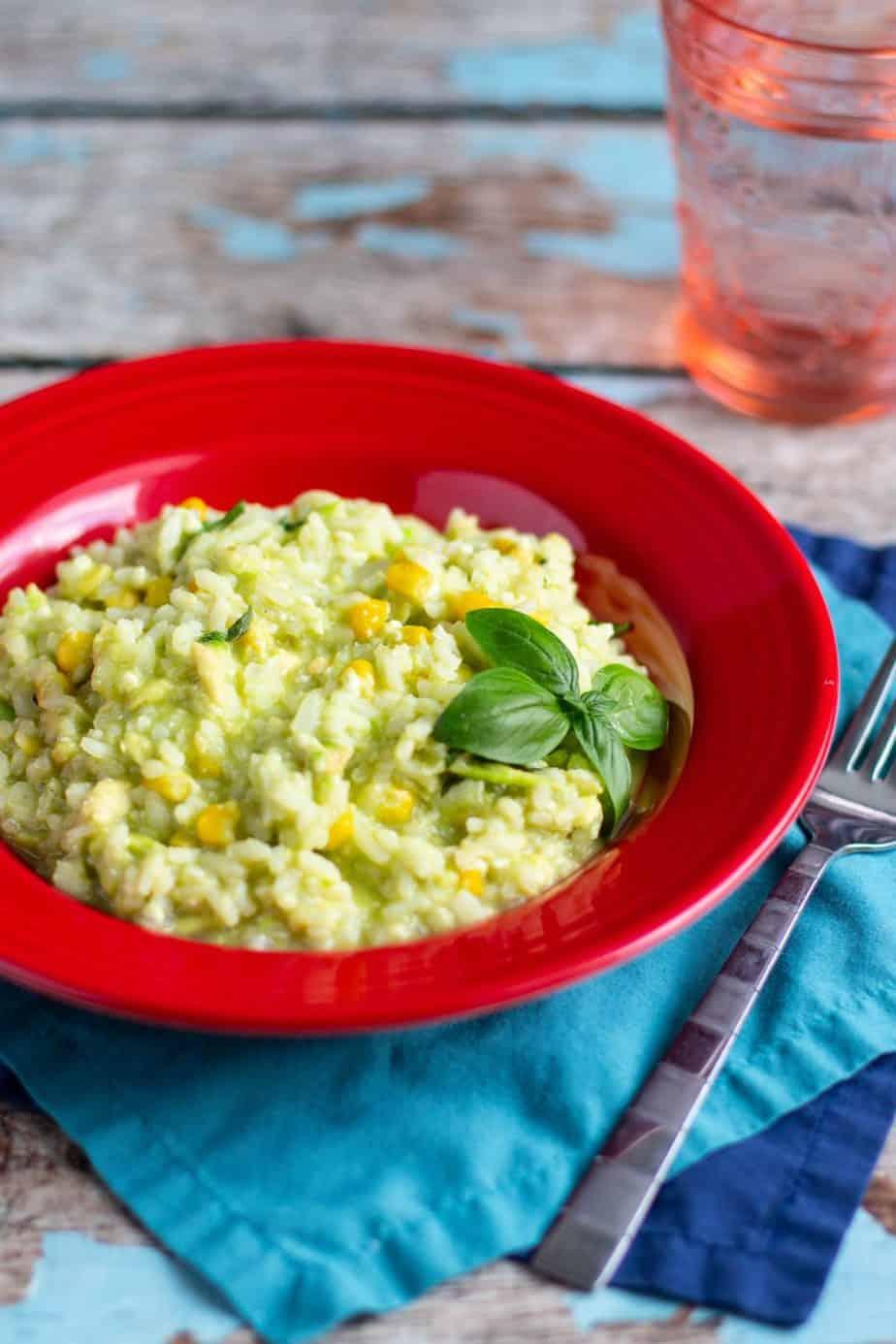 Avocado and Corn Risotto