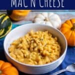 pinterest pin for pumkin thyme macaroni and cheese
