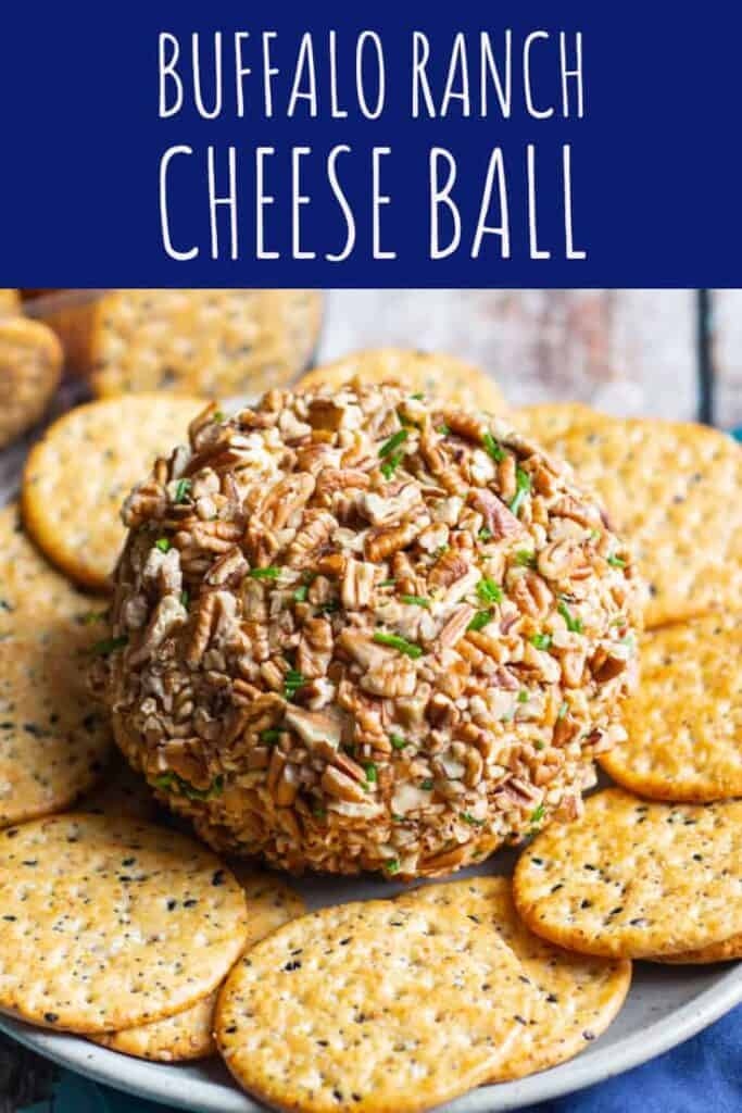 Buffalo Ranch Cheese Ball | A Nerd Cooks