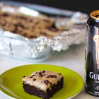 Guinness Brownies with Caramel Fudge Frosting