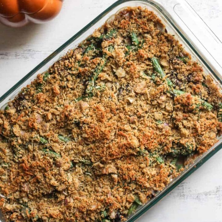 Skinny Green Bean Casserole | A Nerd Cooks