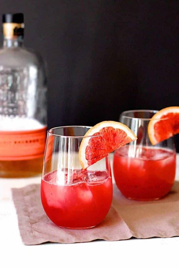 Blood Orange Bourbon Sours | A Nerd Cooks