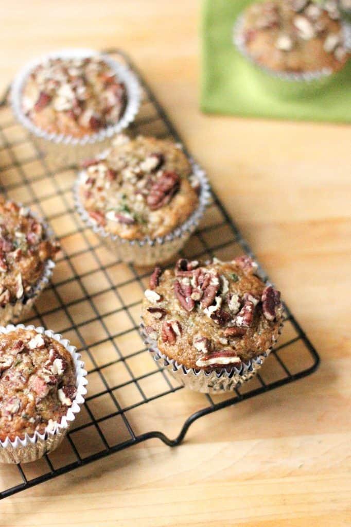Zucchini Banana Muffins | A Nerd Cooks