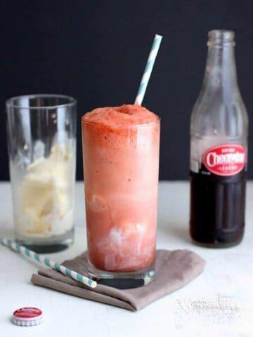 Cheerwine Ice Cream Floats | A Nerd Cooks