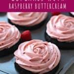 Dark Chocolate Cupcakes with Raspberry Buttercream | A Nerd Cooks