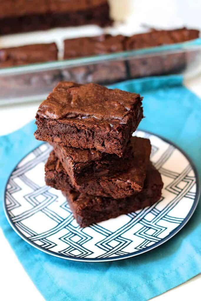 Simple Fudge Brownies | A Nerd Cooks