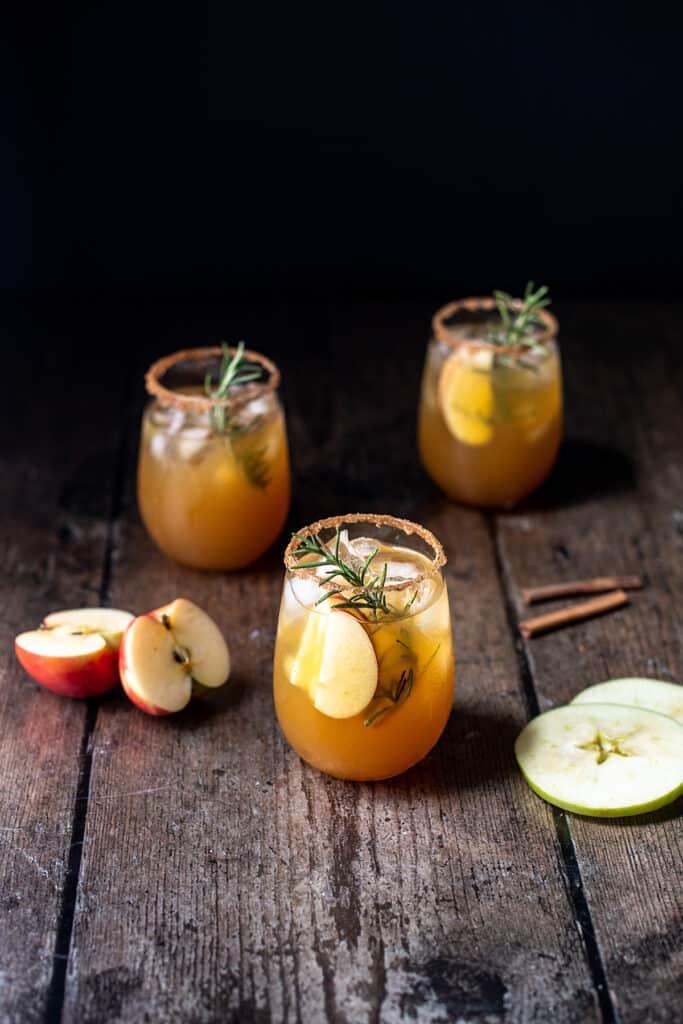 three apple cider margaritas
