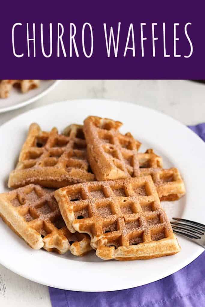 Churro Waffles | A Nerd Cooks
