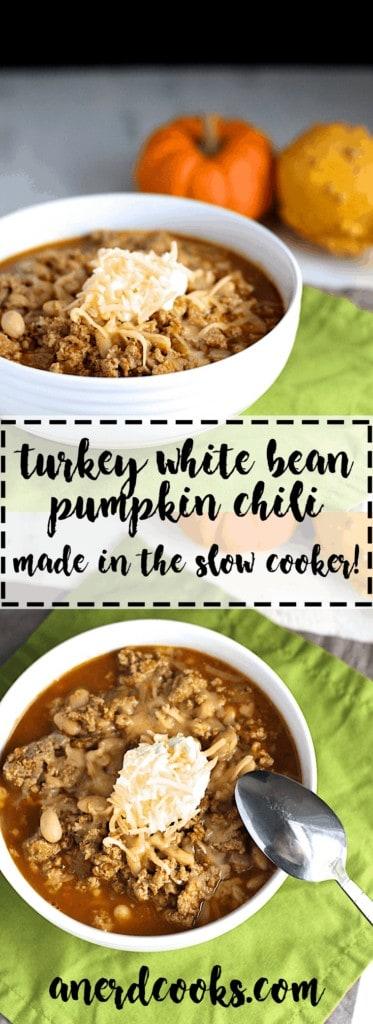 Turkey White Bean Pumpkin Chili | A Nerd Cooks