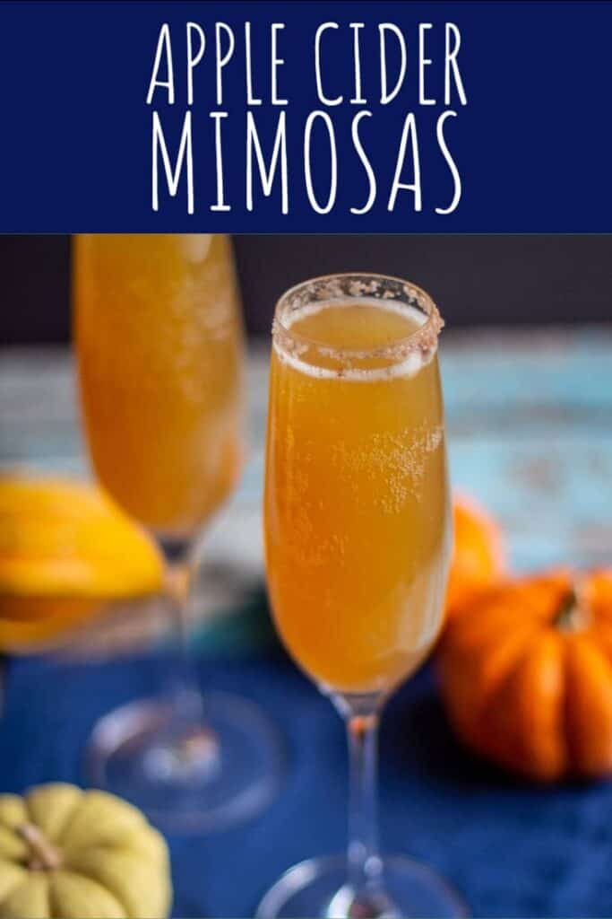 Apple Cider Mimosas | A Nerd Cooks