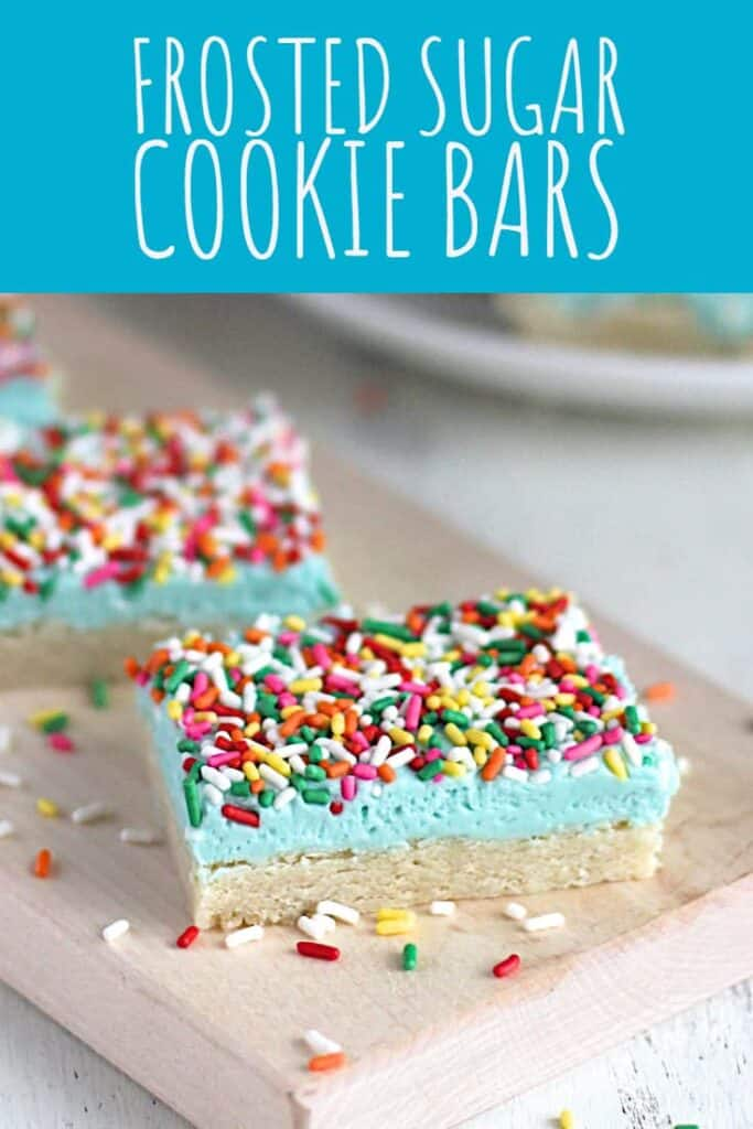 Frosted Sugar Cookie Bars   A Nerd Cooks