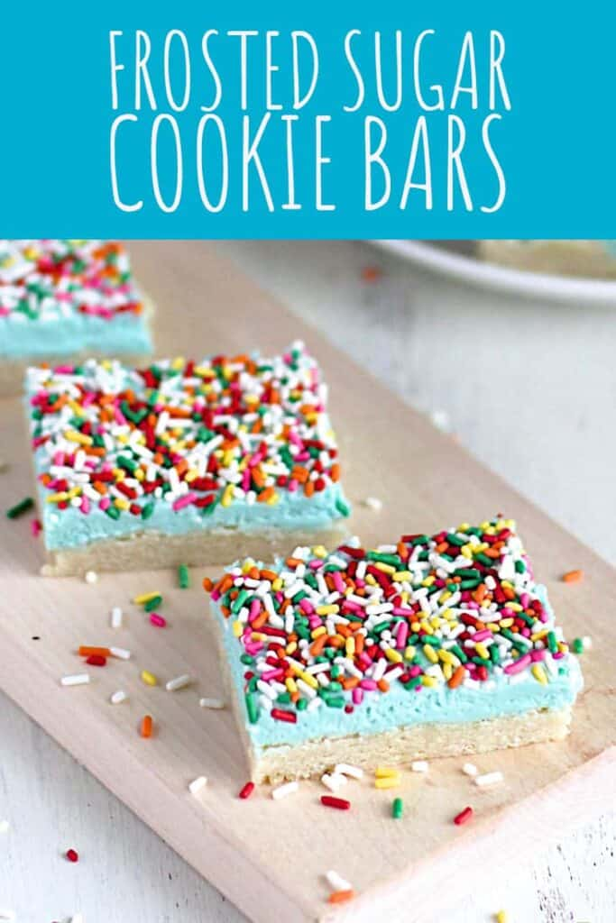 Frosted Sugar Cookie Bars | A Nerd Cooks