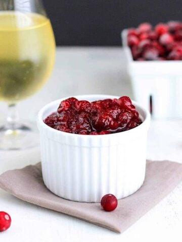 Hard Cider Cranberry Sauce | A Nerd Cooks