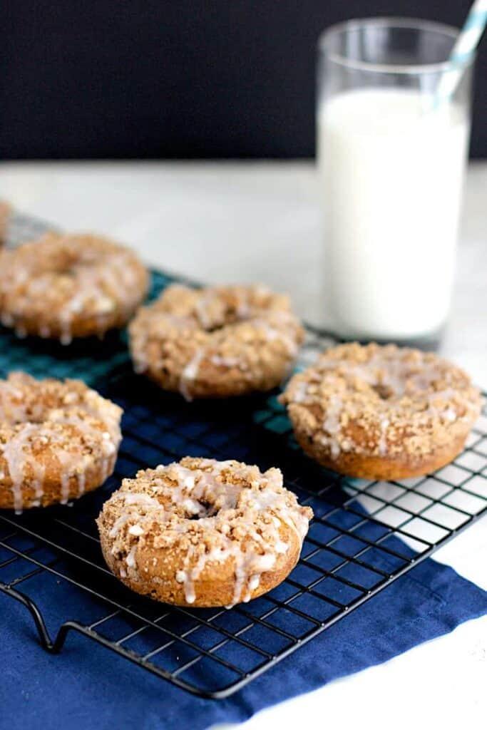 Pumpkin Streusel Donuts | A Nerd Cooks