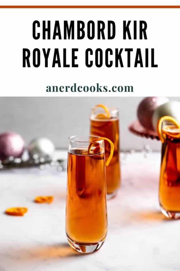 pinterest pin for chambord kir royale cocktail