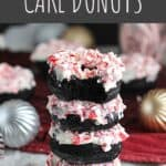 Chocolate Peppermint Cake Donuts | A Nerd Cooks