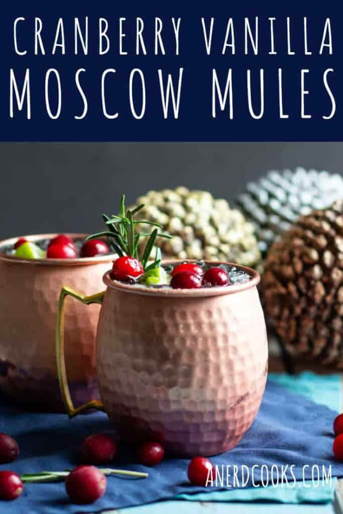 Cranberry Vanilla Moscow Mules | A Nerd Cooks