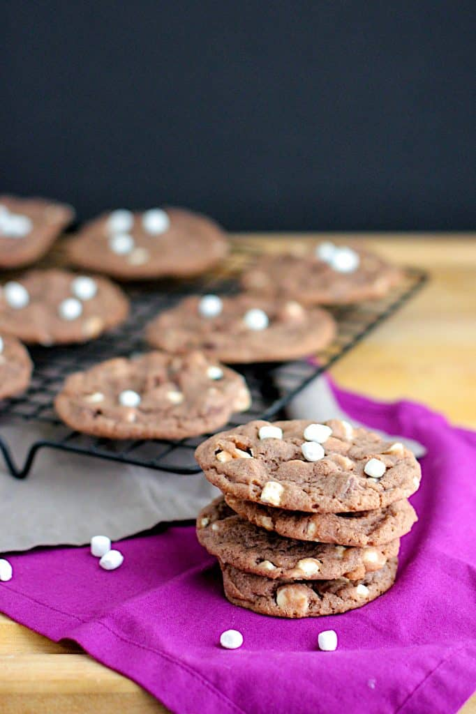 Hot Chocolate Chocolate Chip Cookies | A Nerd Cooks