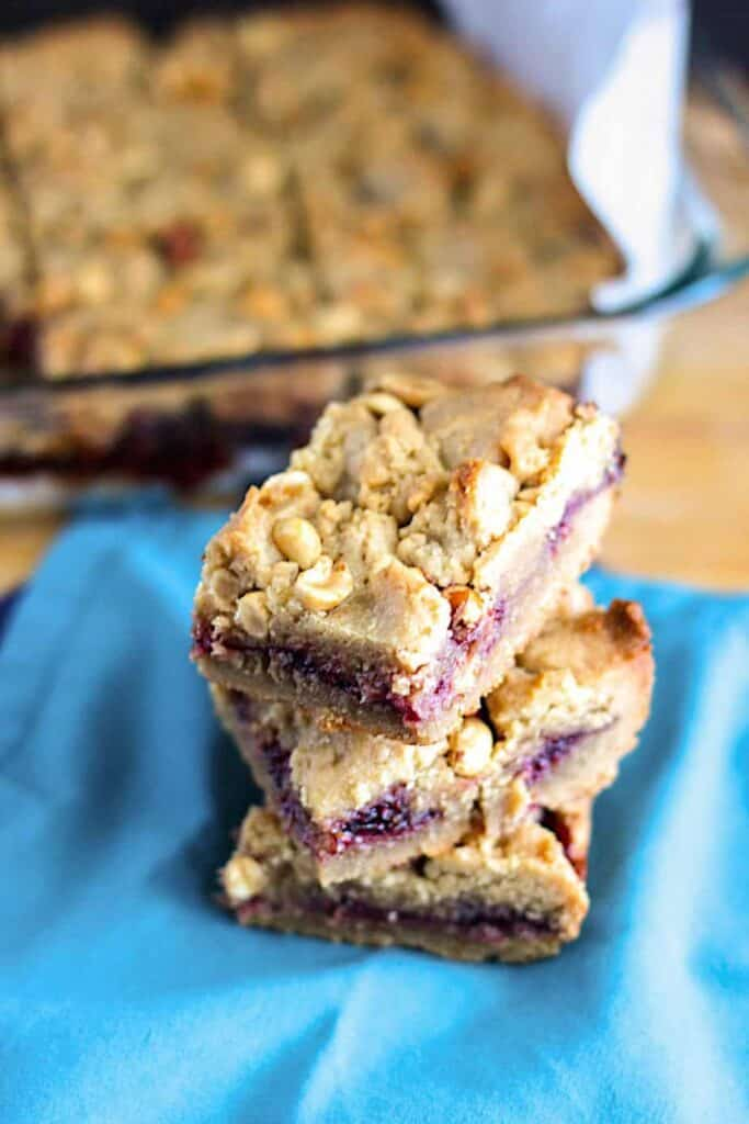 Peanut Butter and Jelly Bars | A Nerd Cooks