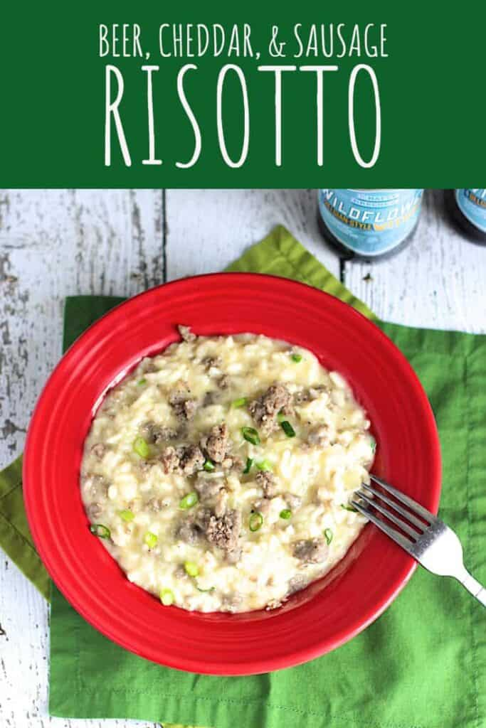 Beer, Cheddar, & Sausage Risotto | A Nerd Cooks
