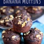Double Chocolate Walnut Banana Muffins   A Nerd Cooks