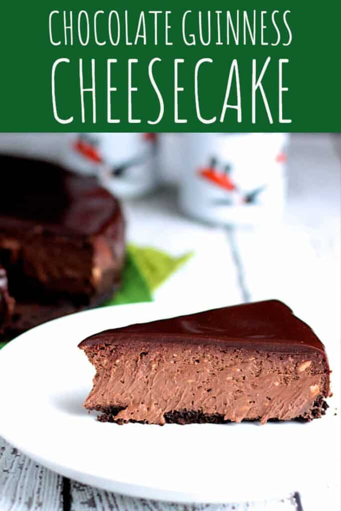 Chocolate Guinness Cheesecake | A Nerd Cooks