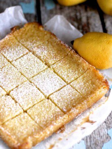 Whole Lemon Bars | A Nerd Cooks