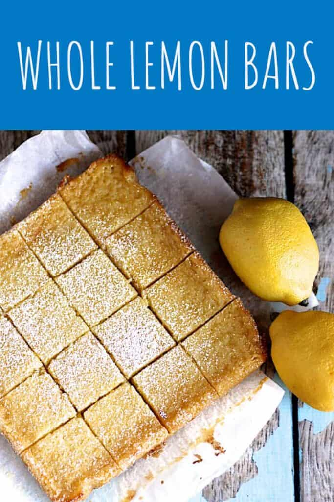 Whole Lemon Bars | A Nerd Cooks