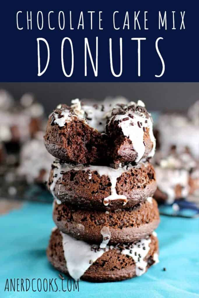 Chocolate Cake Mix Donuts | A Nerd Cooks