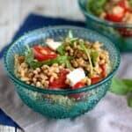 Farro Caprese Salad | A Nerd Cooks