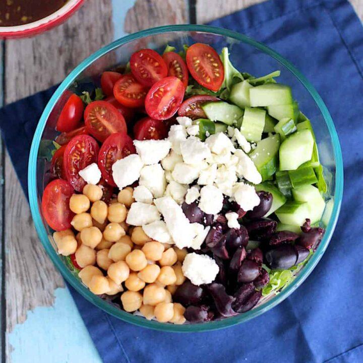 Mediterranean Chopped Salad | A Nerd Cooks