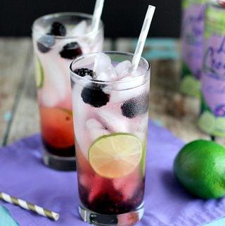 Blackberry Lime Vodka Fizz | A Nerd Cooks