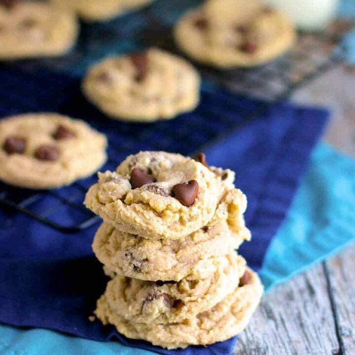 Cream Cheese Chocolate Chip Cookies | A Nerd Cooks