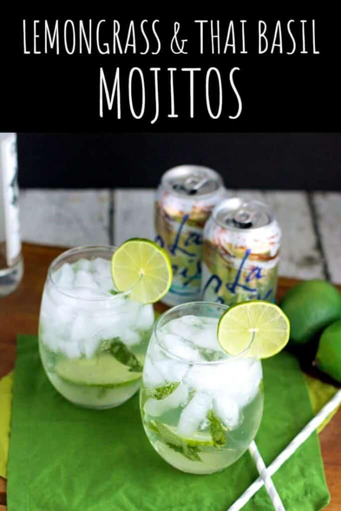 Lemongrass and Thai Basil Mojito | A Nerd Cooks