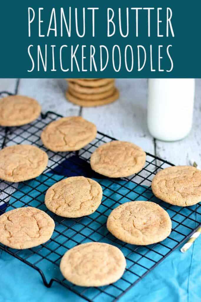 Peanut Butter Snickerdoodles | A Nerd Cooks