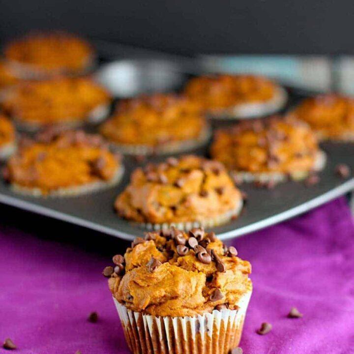 Pumpkin Chocolate Chip Muffins | A Nerd Cooks