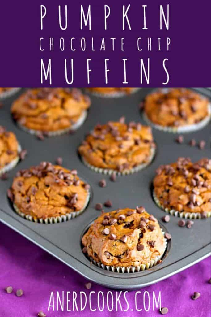 Pumpkin Chocolate Chip Muffins | A Nerd Cooks