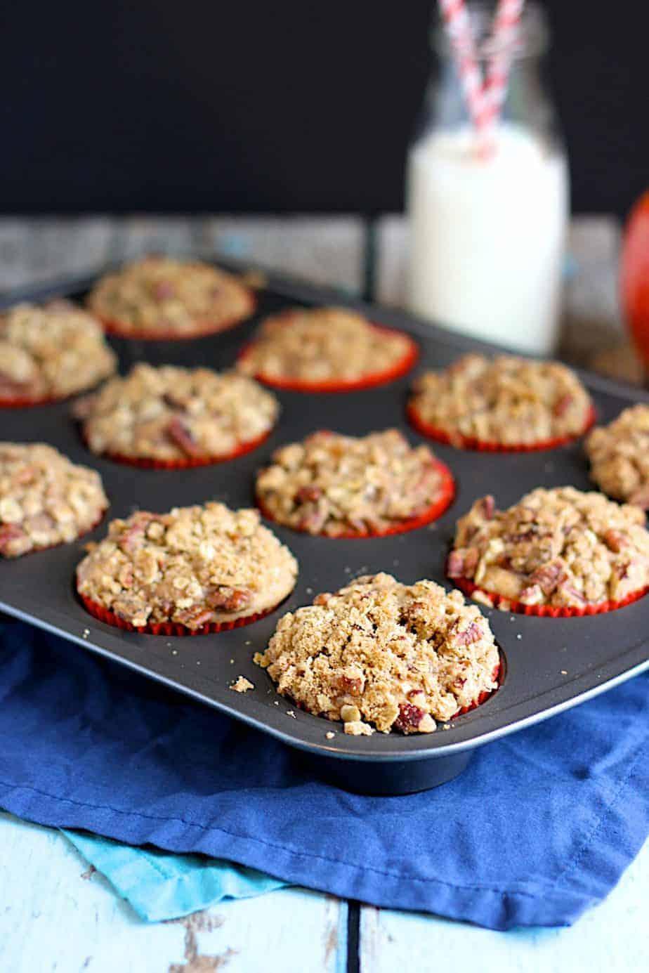 Apple Oat Streusel Muffins | A Nerd Cooks