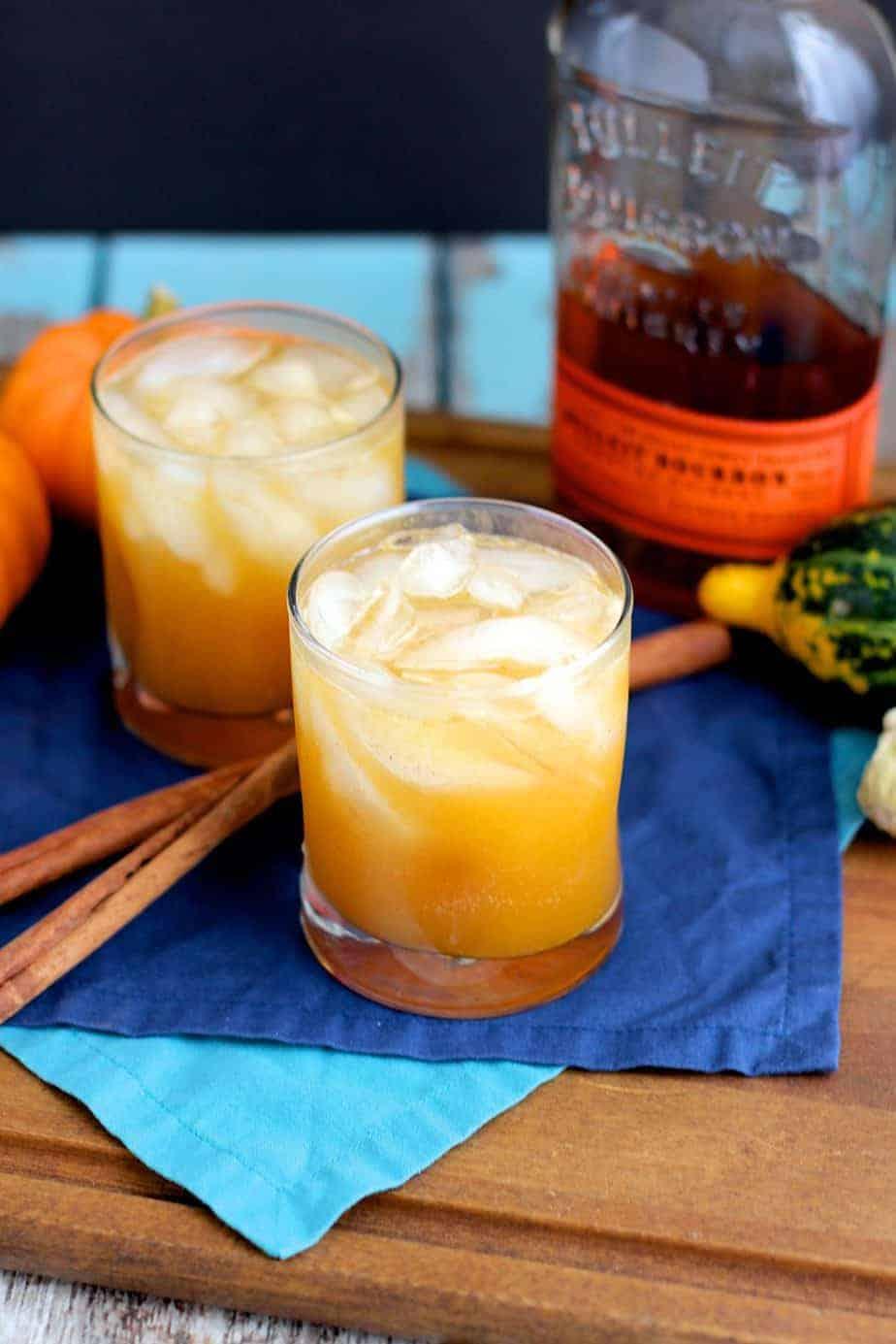 Bourbon Pumpkin Shrub Cocktail | A Nerd Cooks