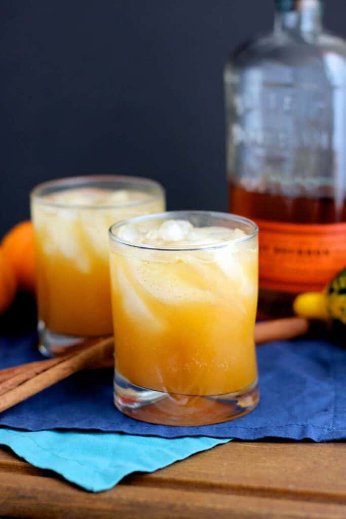 Bourbon Pumpkin Shrub Cocktail | A Nerd Cooks