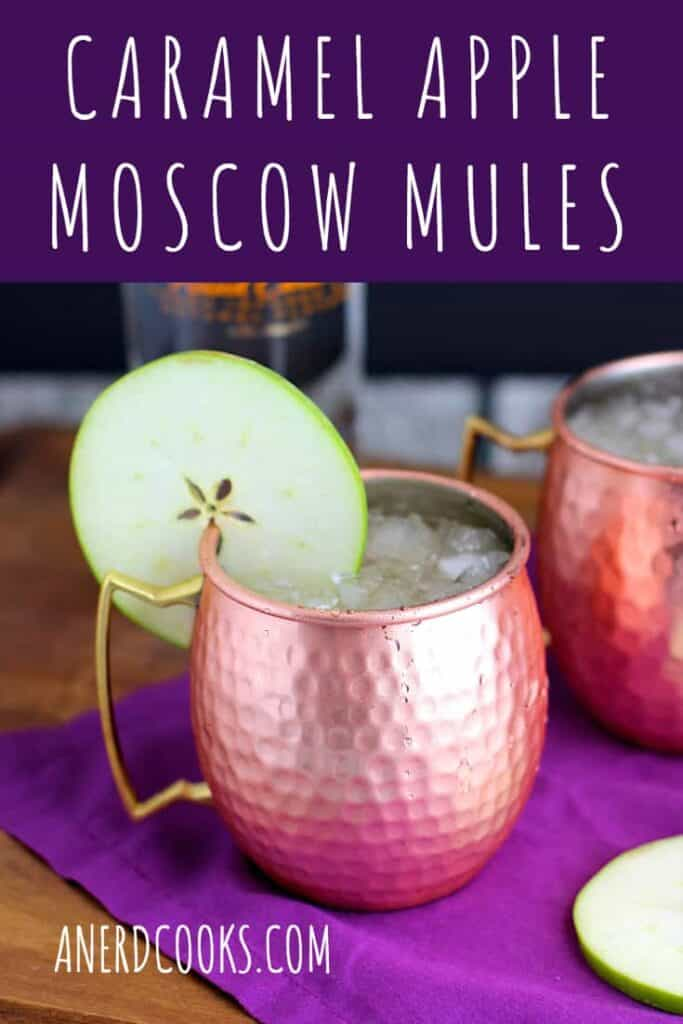 Caramel Apple Moscow Mules | A Nerd Cooks