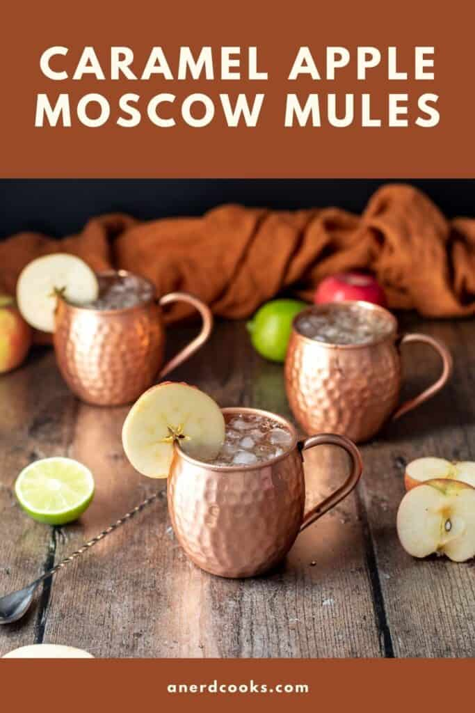 pinterest pin for caramel apple moscow mules