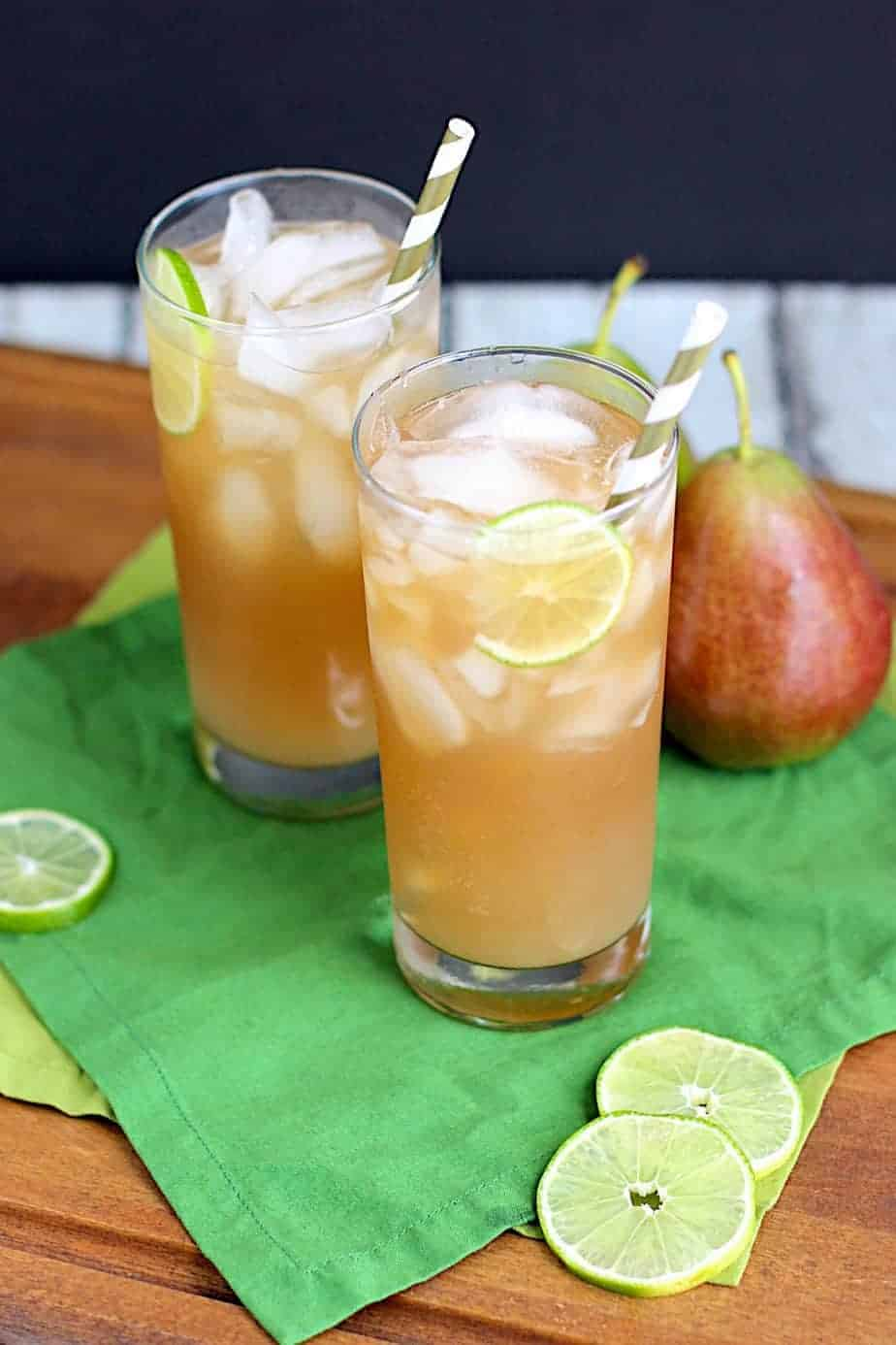 Pear Dark and Stormy | A Nerd Cooks