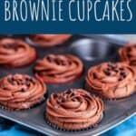 Double Chocolate Brownie Cupcakes | A Nerd Cooks