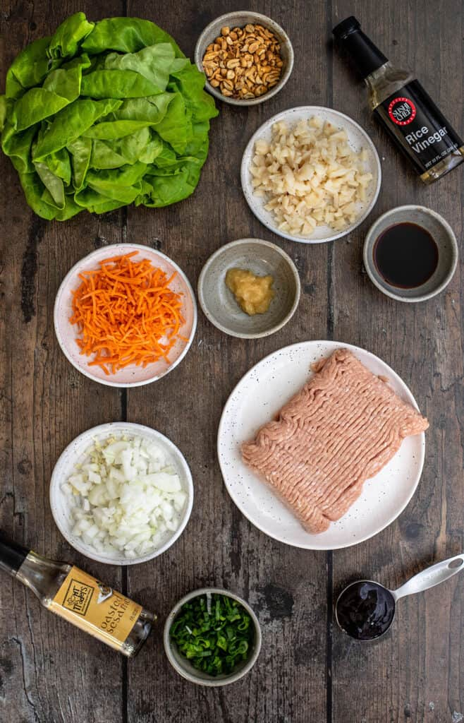 ingredients for P.F. Chang's Chicken Lettuce Wraps